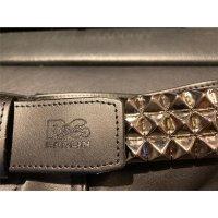 R&Co Leather Belt Pyramide  5 cm