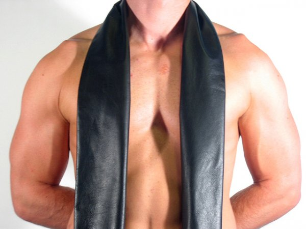 R&Co Leather Scarf