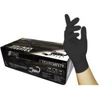 NITRAS BLACK SCORPION Latex disposable gloves, black