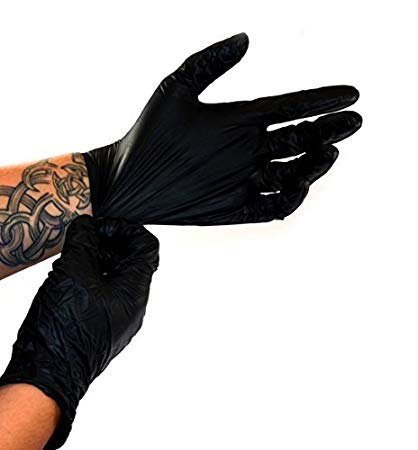 Nitras Wave Nitril Gloves Black 100 x