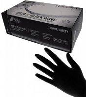Nitras Wave Nitril Gloves Black 100 x