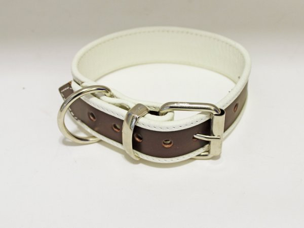 R&Co Slave Collar Brown 3 cm wide fits up to 46cm neck