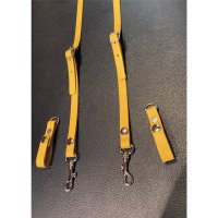 R&Co Leather Skinhead Braces Yellow